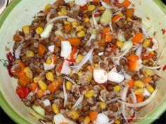 Ensalada de lentejas con arroz integral