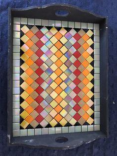 Mosaic Tray, Mosaic Pots, Mosaic Glass, Mosaic Tiles, Stained Glass, Mosaic Designs, Mosaic Patterns, Mosaic Projects, Art Projects
