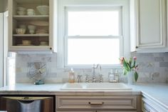 Ideas + Inspiration - Holly Thompson Homes Marble Subway Tiles, Interior Design Gallery, White Cabinets, Homes, Inspiration, Furniture, Ideas, Home Decor, White Cupboards