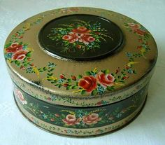 Vintage biscuit tins, pill boxes, all boxes