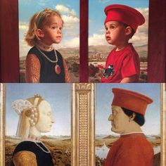 Jeffrey Hein  The top image is a painting I did of my twins at age 2. It was a Mother's Day gift for my wife ten years ago. It is a take on the Piero della Francesca painting (bottom) done in the the late 15th century. #jeffhein #oldmasters #jeffreyhein #painting #realism #fineart — in Salt Lake City, Utah.