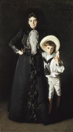 John Singer Sargent, Portrait of Mrs. Edward L. Davis and Her Son, Livingston Davis, 1890, Frances and Armand Hammer Purchase Fund, M.69.18, LACMA.