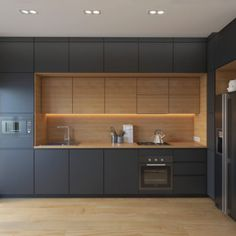 Modern, black hidden kitchen – Ideas and inspirations to your new home – homeidea.co
