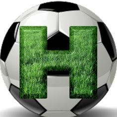 Alphabets by Mônica Michielin Soccer Room, Monogram Alphabet, Puppy Party, Sport Football, Soccer Ball, Grass, Texture, Happy Husband, Jesus Loves