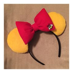 Winnie the Pooh Inspired Mouse Ears by RatHouseEars on Etsy