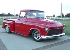1955 Chevrolet 3200 -  Listed by Barrett Jackson  This big-window truck has many custom modifications. It's powered by a 354 Chrysler HEMI with GM electronic fuel injection, custom...  ClassicCars.com