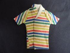 Vintage Alan Ken Mattel Barbie 1960 Swim Suit Jacket Striped Terrycloth Shoe