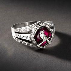 St. Louis Cardinals Women's Championship Fan Ring. MINE in 6-8 weeks!! I can't wait!!