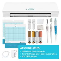 awesome Silhouette CAMEO 3 Wireless Cutting Machine - Ultimate Starter Bundle