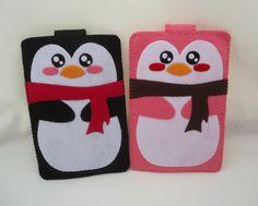 iPhone Case - Cell Phone Case - iPhone 4 Case - iPod Case - iPod Touch Case - Handmade Felt Case - Penguin Design