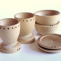 Wooden Toys- Dishes- Cups, Plates and Bowl- Play Kitchen Set- Waldorf – Sweet Giggles Organic Baby Boutique