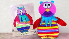 Company Turns Kids; Drawings Into Awesome Toys!-Budsies replicates your child's drawing and turns it into a plush toy for them to play with. Imagine how great your kid will feel when they see a picture they drew come to life!