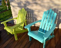 Adirondack chairs - colours