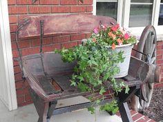 Love the old buckboard seat too!