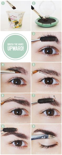 If you go a little wild with the tweezers, mask over-plucked brows by brushing up and filling in.