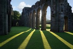 Llanthony Priory in Monmouthshire, Wales at dusk photographed by Anthony Thomas