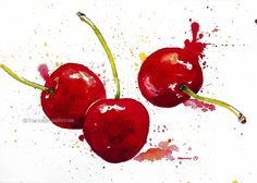 """""""temps de cireres"""" (cherries season) [30x42 cm.]  © francesc palomas"""