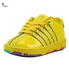 K-Swiss Classic VN Filles US 7 Jaune Baskets - Chaussures k swiss (*Partner-Link)