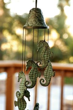 Seahorse wind chimes