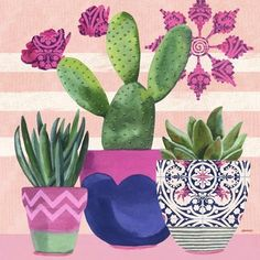 On The Net Landscape Design And Style - The New On-line Tool That Designers Are Flocking To For Landscape Designs Jennifer Brinley Cactus Decor, Cactus Art, Cactus Painting, Plant Art, Cactus Y Suculentas, Plant Illustration, Cacti And Succulents, Art Lessons, Flower Art