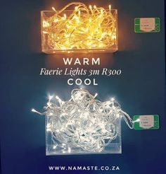Inside #Faerie #Lights available at the #NamasteCabin R300 for 3m stand. Choose from #Warm or #Cool on a clear, white or green strand. I recommend clear strands with #CoolLight for outside under cover and #WarmLight for indoors. I don't just have these babies for the #FestiveSeason, they are all over my house during all seasons because they are pretty #AF!!! Other colours available are #Green #Red and #Purple www.namaste.co.za/new #NamasteProducts L And Light, Faeries, Strands, Namaste, My House, The Outsiders, Chandelier, Neon Signs, Indoor