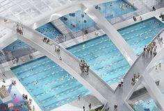 Green Square Aquatic Center and Gunyama Park. OMA (2014)