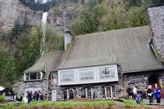 Columbia River Gorge National Scenic Area, Hood River, Oregon — by The Camangian's. The historical Multnomah Lodge was built in 1925 and it houses the forest service information center.