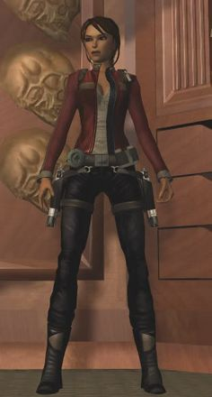 Tomb Raider Underworld - Lara Croft in one of her many different costumes shown throughout the game.