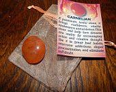 GENUINE CARNELIAN - Genuine Rough or Tumbled Carnelian - @1 Inch Gemstones - Bring Confidence, Eliminate Procrastination, Increase Vitality