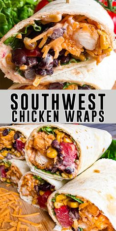 Healthy Dinner Recipes, Mexican Food Recipes, Cooking Recipes, Wrap Recipes For Lunch, Best Lunch Recipes, Ethnic Recipes, Southwest Dressing, Health Dinner, Easy Meals