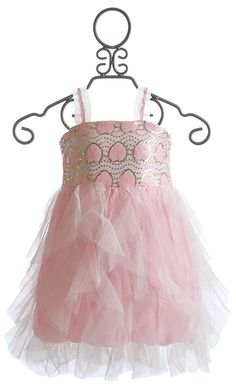 Le Pink Le Beaute Cascading Ruffles Girls Dress