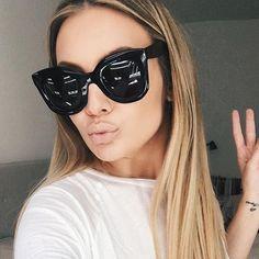 5ddb731fbcff3 R  25.39 42% de desconto Winla 2019 óculos de Sol Da Moda Óculos De Sol Das  Mulheres Designer de Marca de Luxo Do Vintage Rebite Feminino Shades Big  Quadro ...