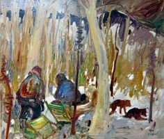 René RICHARD - Trappeurs (c.1955) Art Minimaliste, Canada, Galerie D'art, Canadian Art, Sculpture, Objet D'art, Minimalist Art, Fine Art Gallery, Pottery