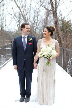 Check out this winter wedding on the Brides of Oklahoma blog | Brides of Oklahoma | cake: Brown Egg Bakery | Florist: Poppy Lane Design | Invitations: Chirps & Cheers | Jewelry, rings: Naifeh Fine Jewelry | Makeup: Chelsey Ann Artistry | Wedding Planner: Gibson Events #bridesofok #oklahoma #weddings #oklahomaweddings