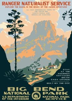 National Parks Poster Art 2014 Wall Calendar: The vertical format of this attractive 2014 graphic design calendar appropriately displays a group of posters West Texas, Vintage National Park Posters, Wpa Posters, Graphic Posters, Retro Posters, Voyage Usa, National Parks Usa, Lost Art, Tarzan