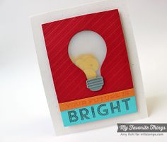 Watt's Up?, Lightbulb Die-namics, Sequins Die-namics, All Lined Up Stencil - Amy Rohl #mftstamps