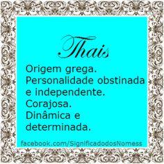 Significado do nome Thais | Significado dos Nomes