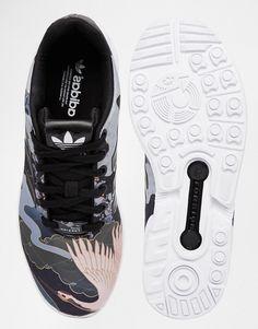 the best attitude bd971 aebc7 adidas Originals Rita Ora Elegant Print ZX Flux Sneakers