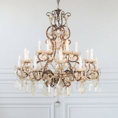Antique Glass Crystal Chandelier from Provence - Doreen O'Connell - Antique Glass Crystal Chandelier from Provence Eloquence® Vintage Crystal Chandelier, French Chandelier, Chandelier Bedroom, Gold Chandelier, Antique Chandelier, Modern Chandelier, Chandelier Makeover, Chandelier Ideas, Iron Chandeliers