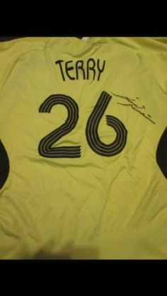 2007-2008 Signed John Terry Chelsea Away Football Shirt COA