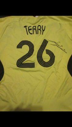 2007-2008 Signed John Terry Chelsea Away Football Shirt COA