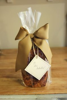 cute way to wrap Bread for Gifts or fundraisers!