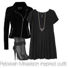Rebekah Mikaelson inspired outfit/ The Originals by tvdsarahmichele on Polyvore featuring Monki, Vero Moda, Giuseppe Zanotti and With Love From CA