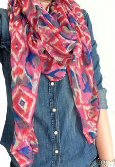 Sjaal met Aztec print - Oh So HIP