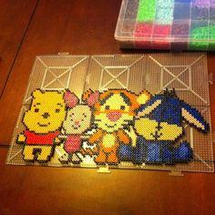 Winnie and friends hama perler beads by jess4nier