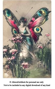 Free Vintage Clip Art Red Wing Fairy