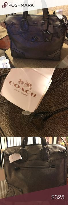 Bronze Coach Rhyder 33 Satchel Handbag Brand new with tags beautiful authentic coach bag original price 650.00 it's absolutely stunning. Coach Bags Shoulder Bags