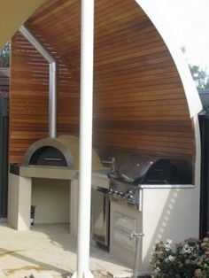 bbq & pizza oven with shelter