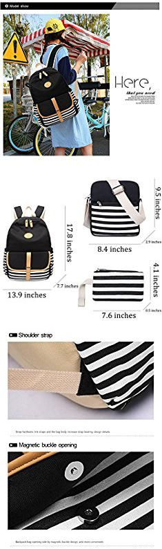 Ladies Backpack Laptop Bag. Lightweight Canvas Backpack Set 3 Pcs Fashion High School Bag Outdoor Travel Computer Laptop Backpacks for Women Girl Boy Casual Campus Student Bags Durable College Vintage Stylish Daypack SCIONE.  #ladies #backpack #laptop #bag #ladiesbackpack #backpacklaptop #laptopbag