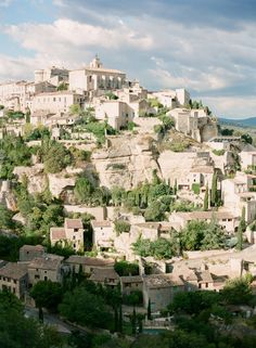Gordes where to two highest buildings are the Castle du Ault Gordes and the Catholic Church.